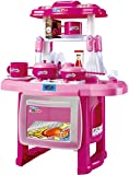 Saffire Kids Kitchen Cooking Set with Music and Lights, Pink