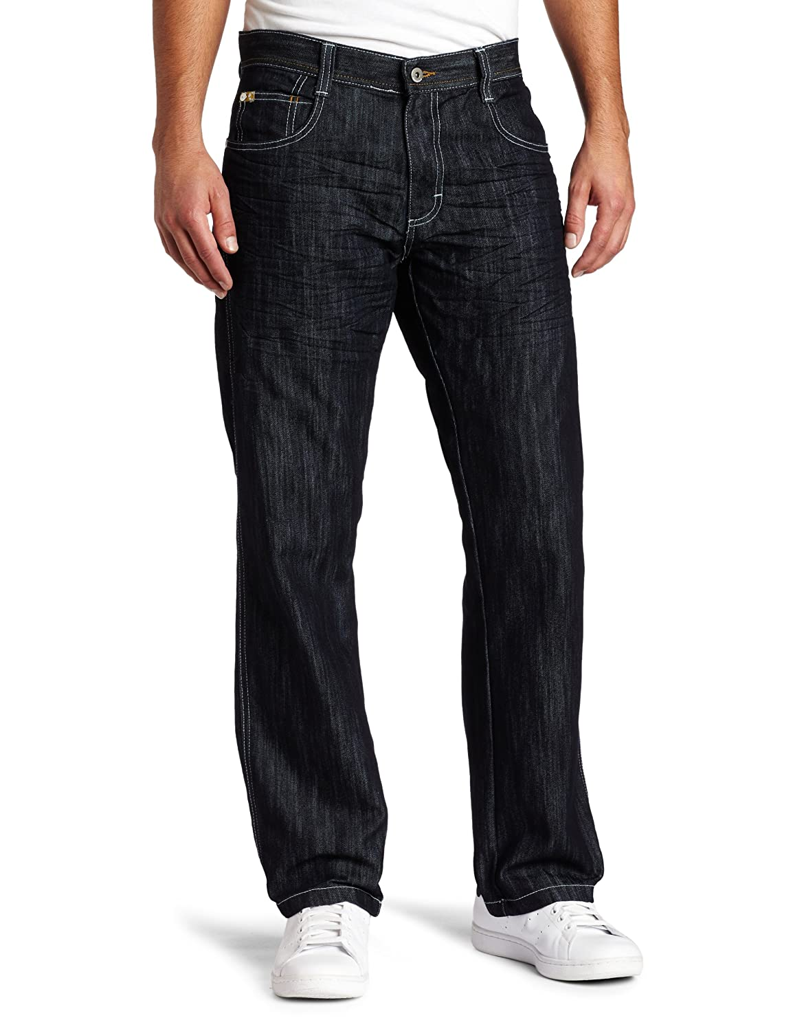 Southpole mens big-tall Men's Big & Tall Relaxed Fit Basic Shiny Streaky Denim 4187-2126