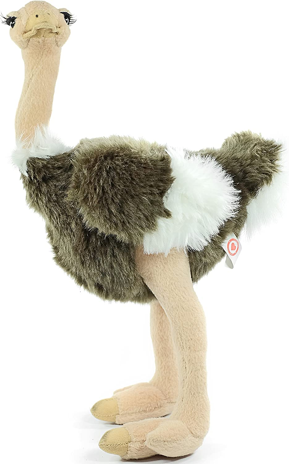 Ola The Ostrich - 11 Inch Realistic Looking Stuffed Animal Plush - by Tiger Tale Toys