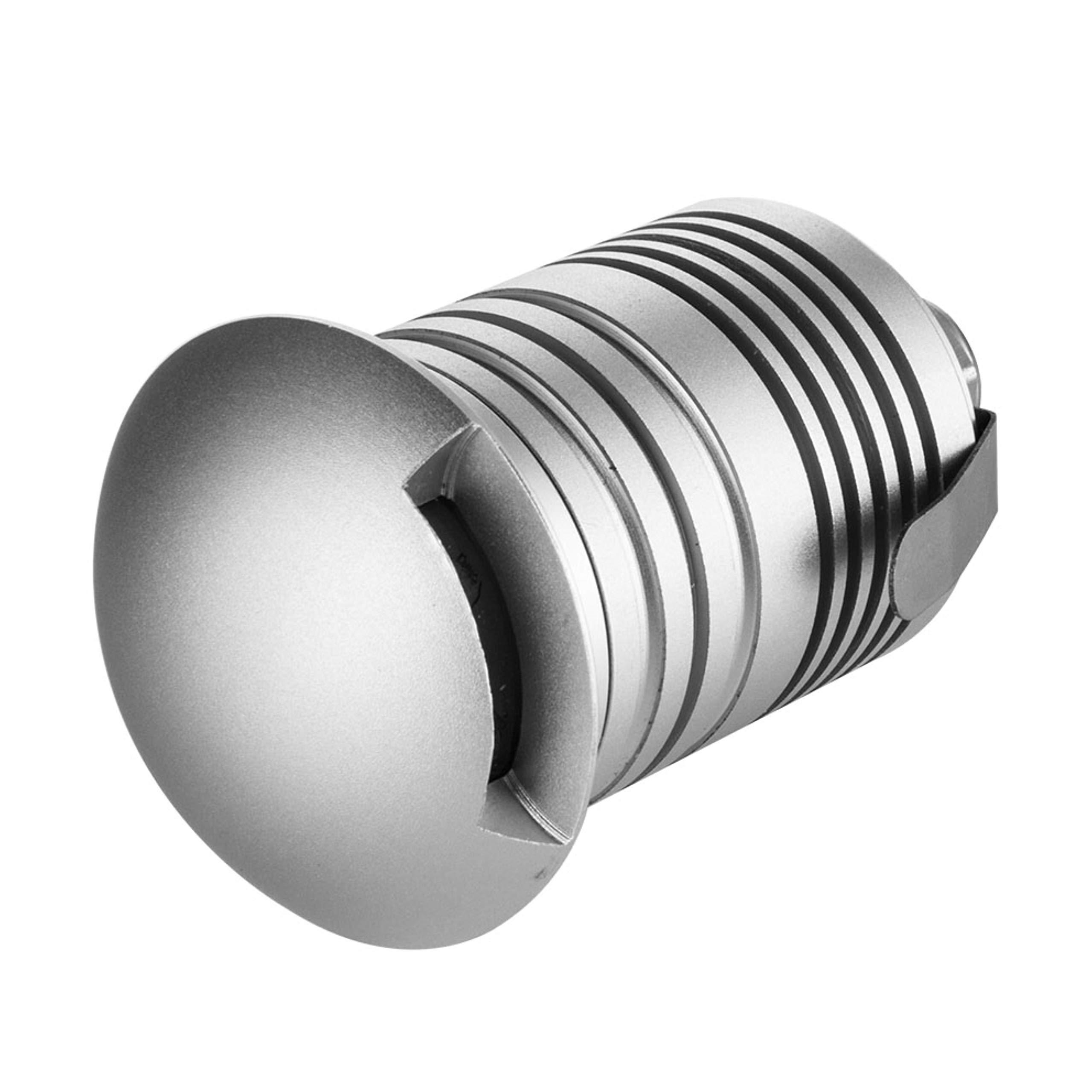 E-Simpo 10pcs 3W Waterproof LED Underground Lamp,led driveway lights, Side Emitting, LED Floor Light, LED Path Light, LED Stairs Light IP67 DC12-24V 280LM,with Embeded Holder. (Q3-Warm White)