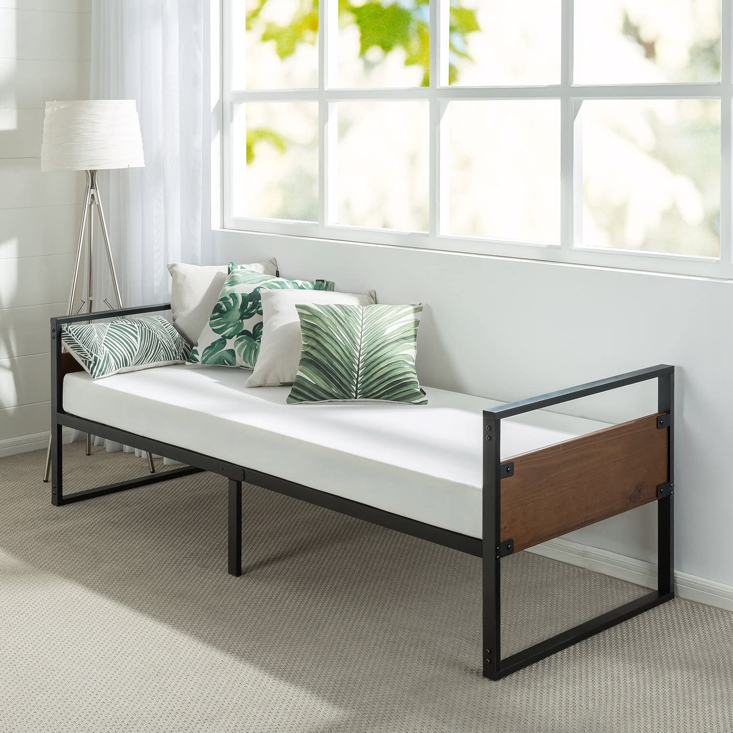 Zinus Suzanne 30 Inch Wide Daybed Frame with Mattress Set