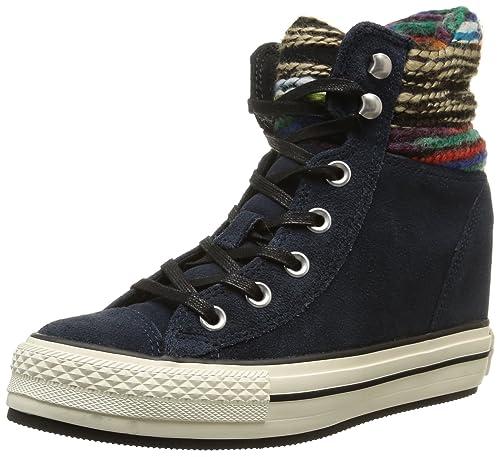 a42ba2c39f Converse, A/S Hi Platform Plus Collar su Sneaker,Donna, Blu ...