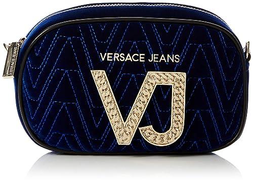Versace Jeans - Ee1vsbbi1, Carteras de mano Mujer, Azul (Prussian Blue),
