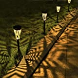 LeiDrail Solar Pathway Lights Outdoor Garden Yard Décor Metal Solar Powered Walkway LED Landscape Lighting Waterproof…