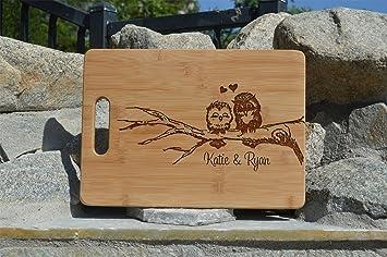 amazon com personalized cutting board cute owl cutting board