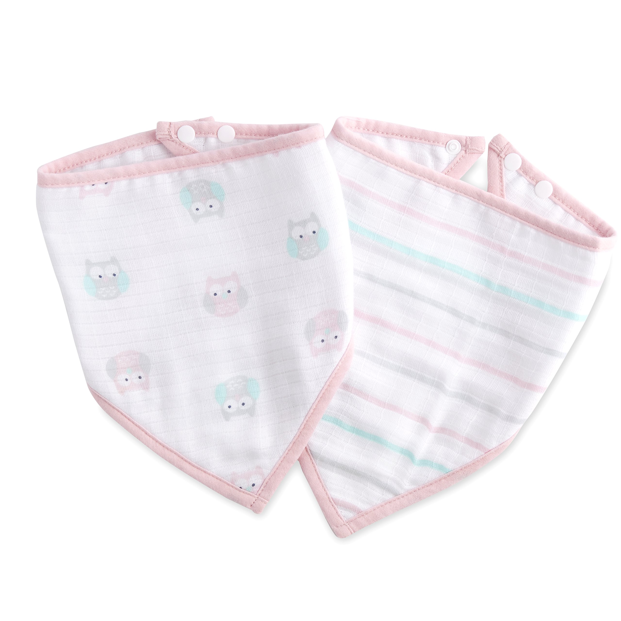 ideal baby by the makers of aden + anais bandana bib 2 pack, owls