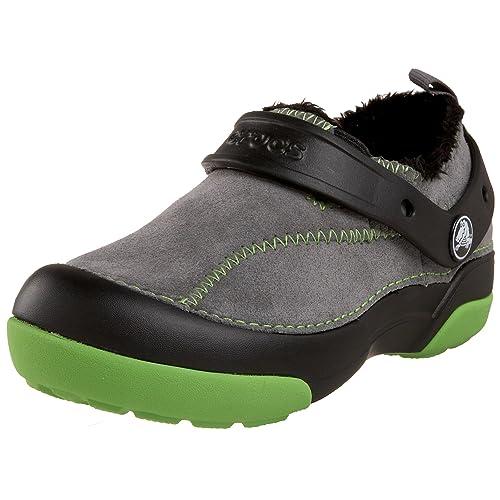 Crocs Dawson - Zapatos primeros pasos de piel y material sintético para niño Negro Noir (Black/Charcoal) 29-30: Amazon.es: Zapatos y complementos