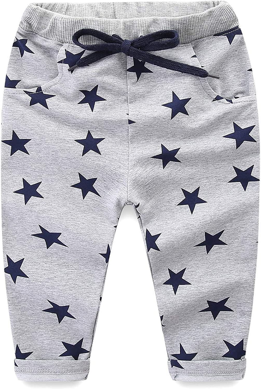 Mud Kingdom Boys Pants Size 5 Cotton Grey Star Print