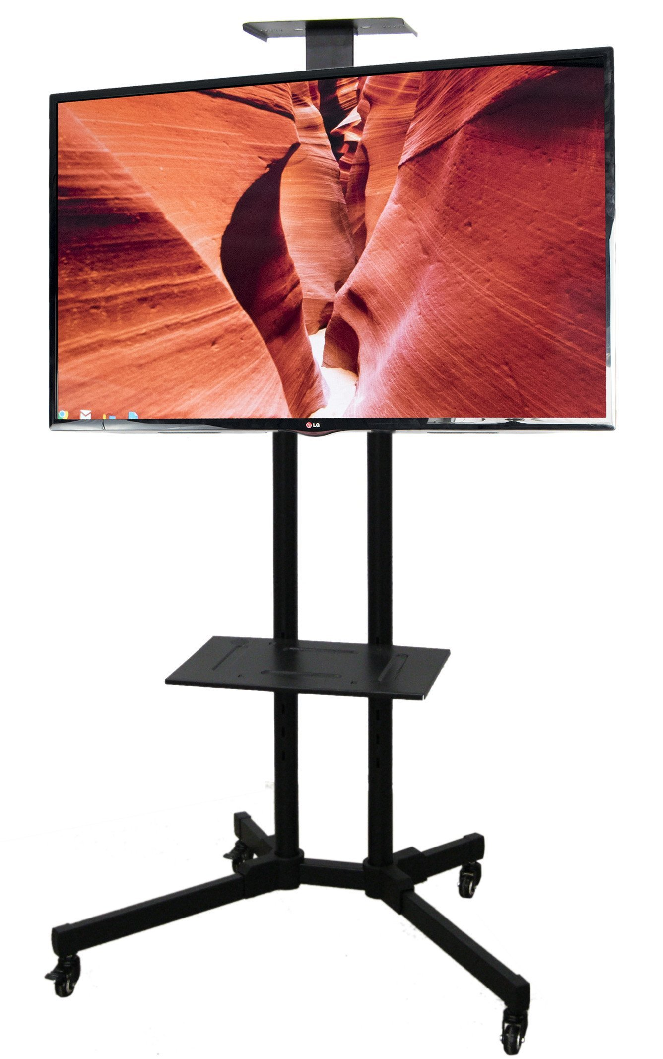 VIVO TV Cart for LCD LED Plasma Flat Panels Stand with Wheels Mobile fits 37'' to 70'' (STAND-TV01B)