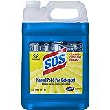 S.O.S Manual Pot and Pan Detergent Liquid, 128 Ounces (31742)