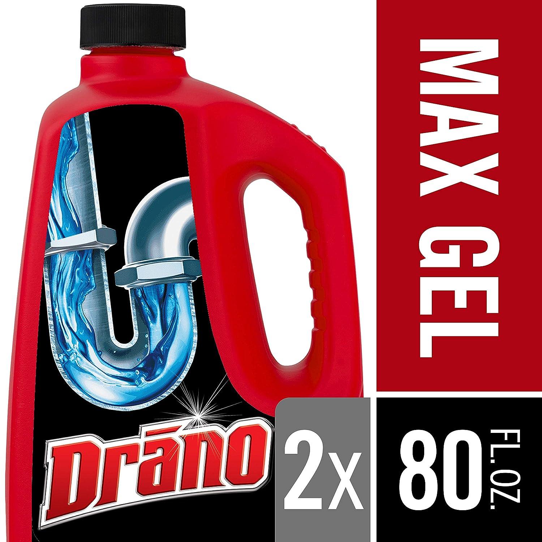 Drano Max Gel Clog Remover, 80 fl oz (2 ct) SC JOHNSON 08857001544