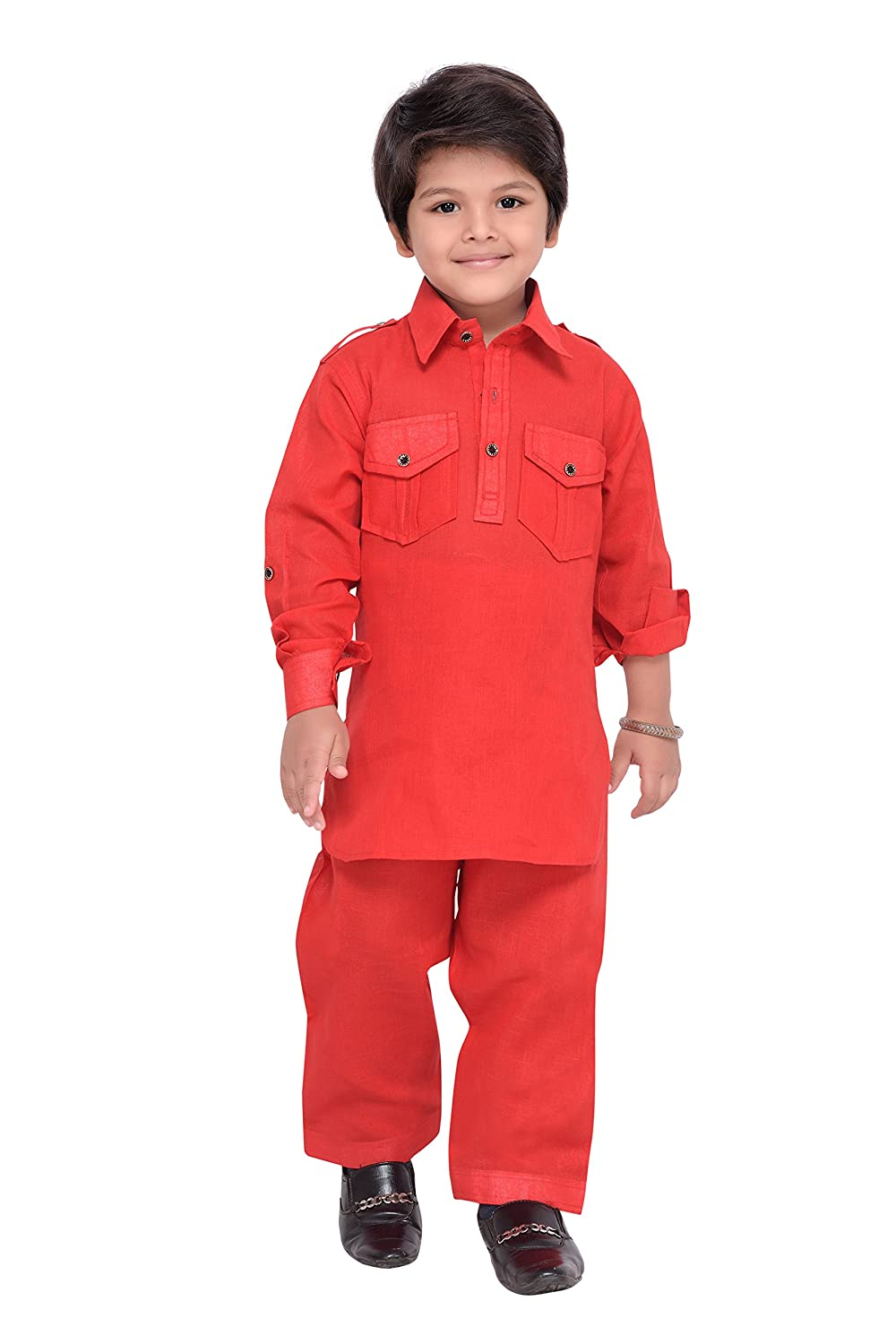 AJ Dezines Kids Indian wear Bollywood Style Pathani Suit for Boys 1201-$P