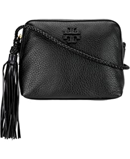 ae4ed81b6f2 Tory Burch Women s Leather Taylor Camera Crossbody Bags Handbag 52715 (Black )