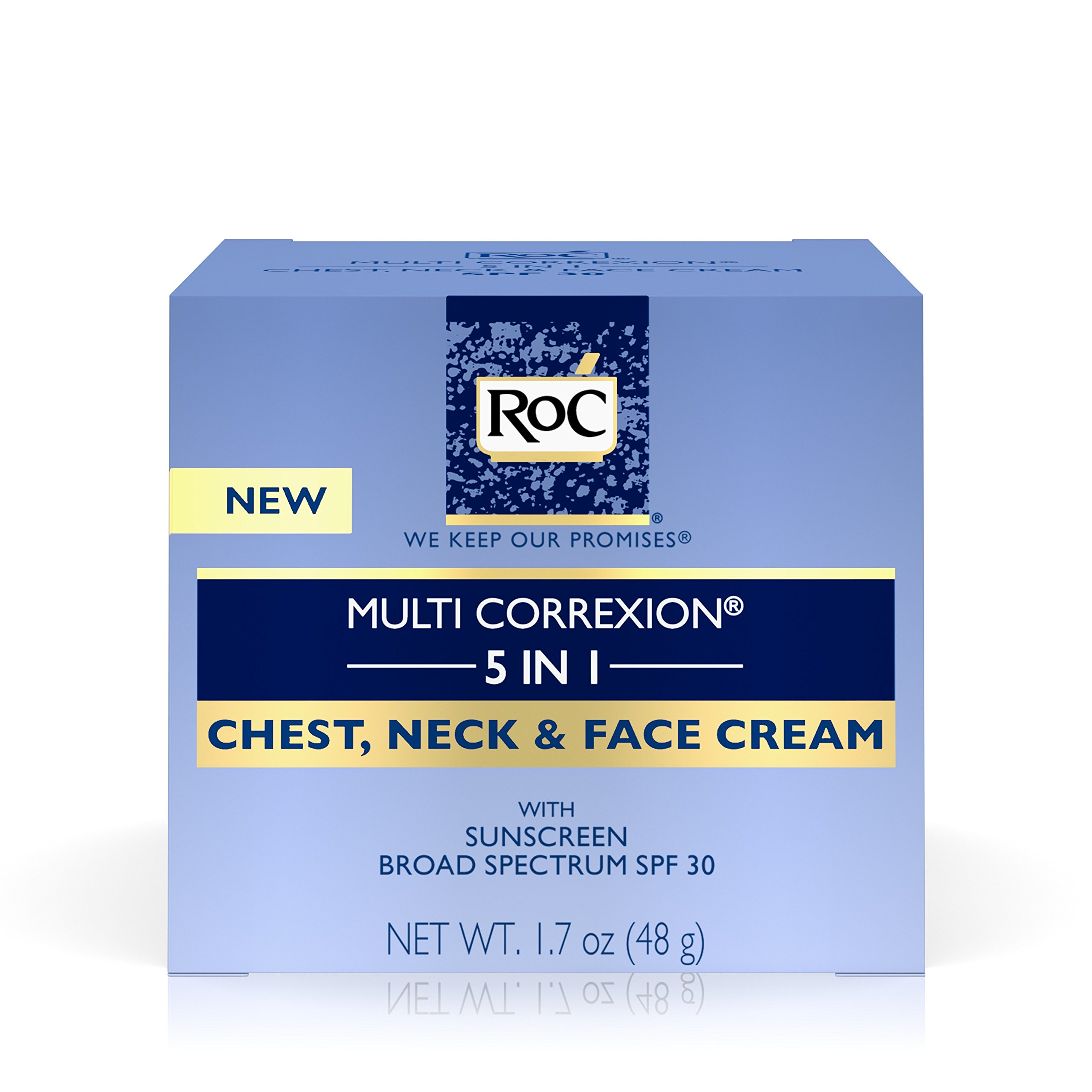 RoC Multi Correxion 5 in 1 Anti-Aging Chest, Neck and Face Cream with SPF 30, Moisturizing Cream Made with Vitamin E, 1.7 oz by RoC