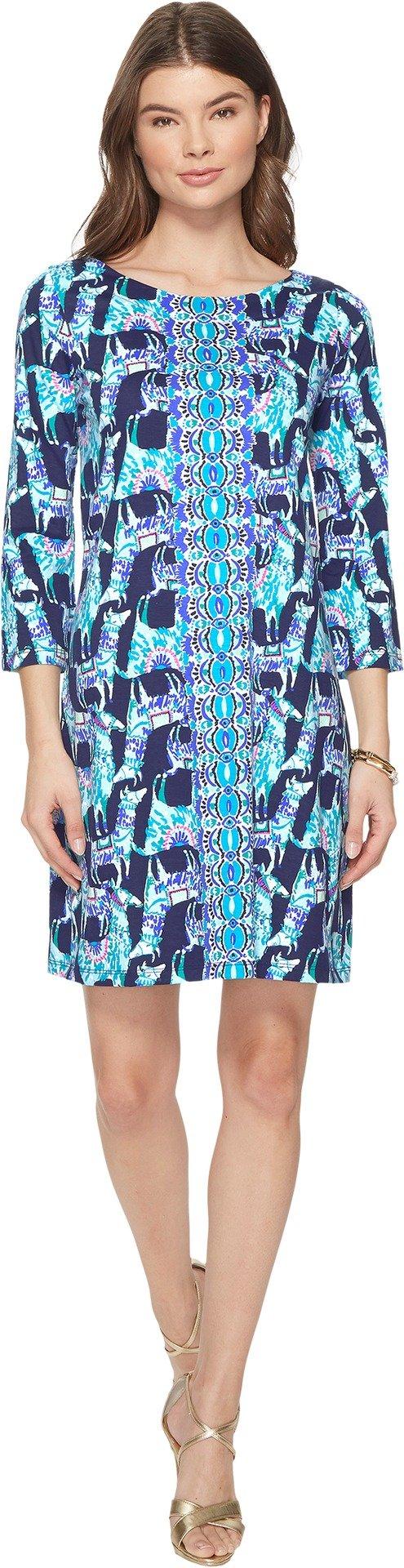 Lilly Pulitzer Women's Bay Dress Bright Navy Alpaca My Bags Engineered Dress X-Small