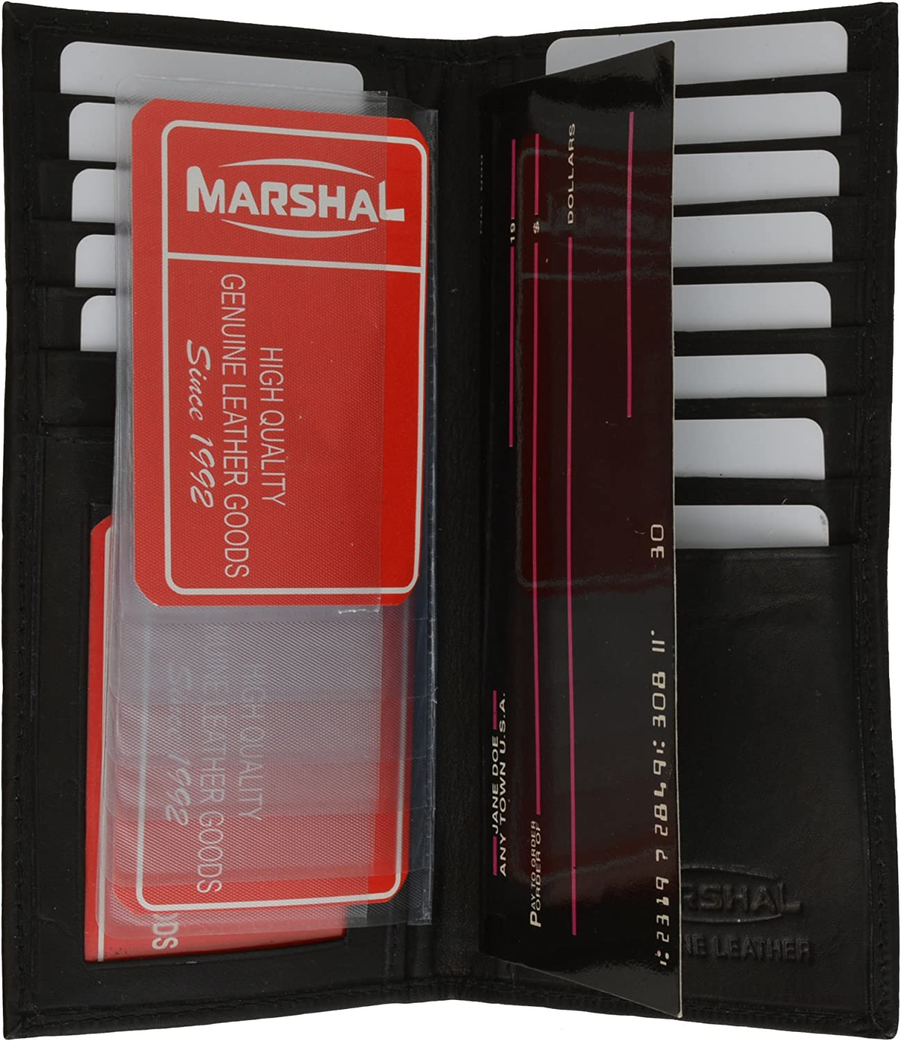 Ladies Bifold Checkbook Wallet and Credit card Holder with Id Window by Marshal
