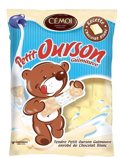 Cémoi Sachet l Authentique Petit Ourson Guimauve au Chocolat Blanc 180 g -  Lot de 4b32403cfcb