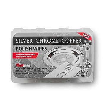 wipease plata, cromo y cobre polaco Toallitas