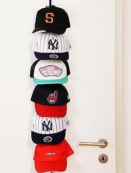 Soporte para gorras planas, Mantiene el orden, para 18 hasta 36 gorras de Béisbol según modelo, 2: Weiß 10 Clips: Amazon.es: Deportes y aire libre