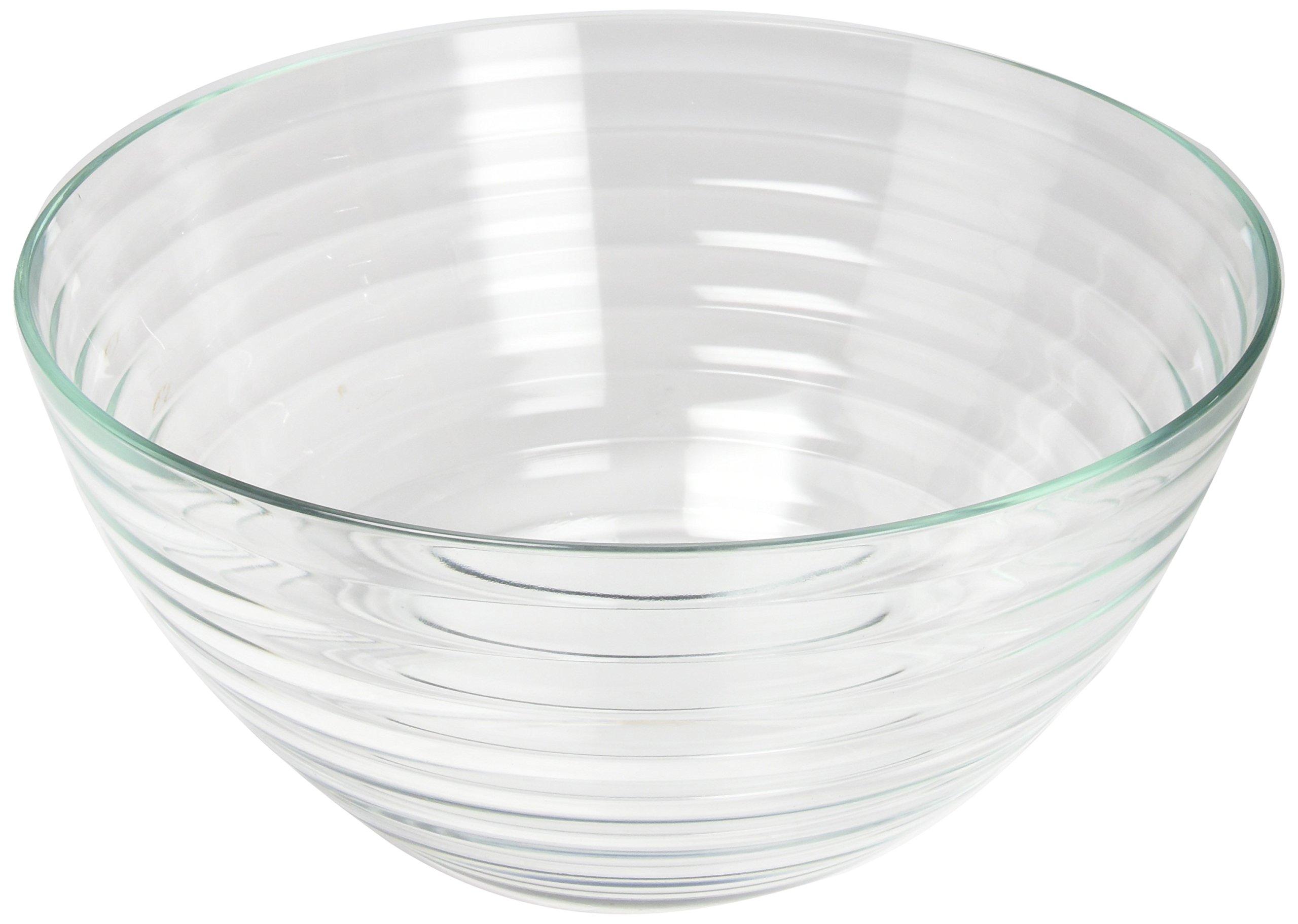 Rösle Salad Set with Glass Bowl & Stainless Steel Serving Utensils