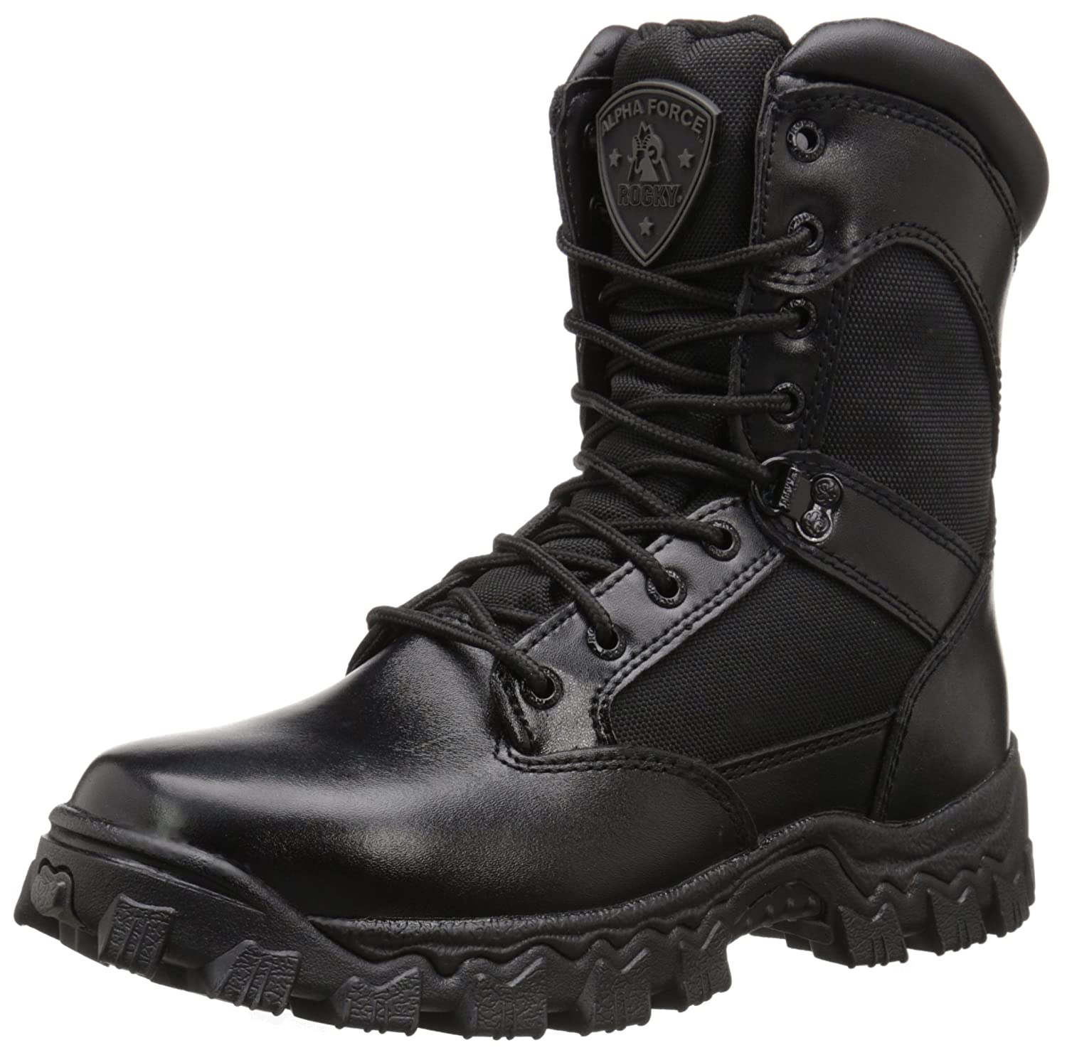 472e43bb463 Rocky AlphaForce Zipper Waterproof Duty Boot Black