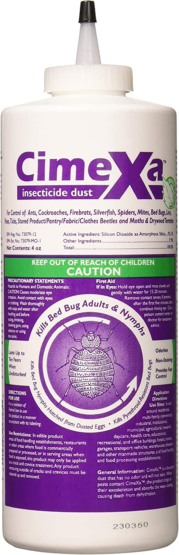 cimexa insecticida polvo, 4onzas de polvo en cada botella por Rockwell