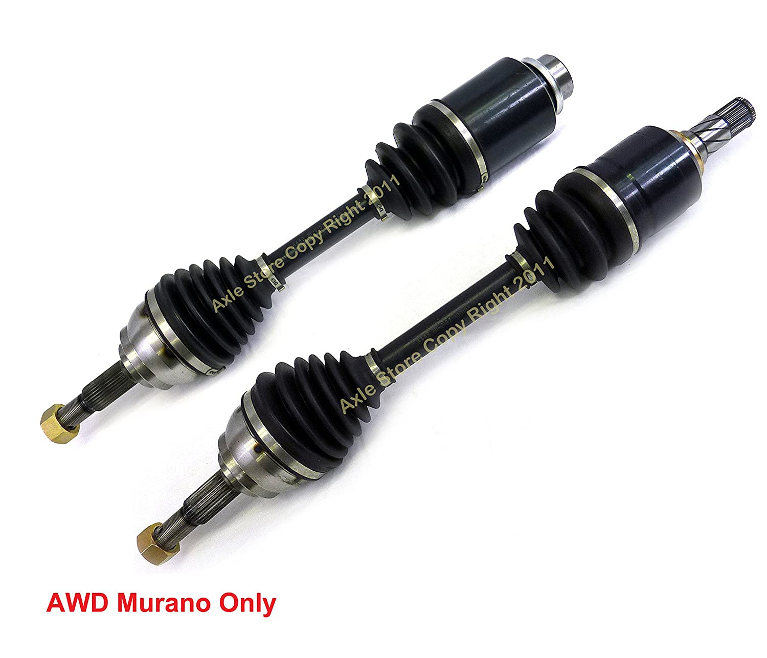 DTA DT1215721581 Front Driver and Passenger Side Premium CV Axles pair WILL NOT Fit 2WD Fits Nissan Murano AWD Only New Drive Axle Assemblies - 2 pcs