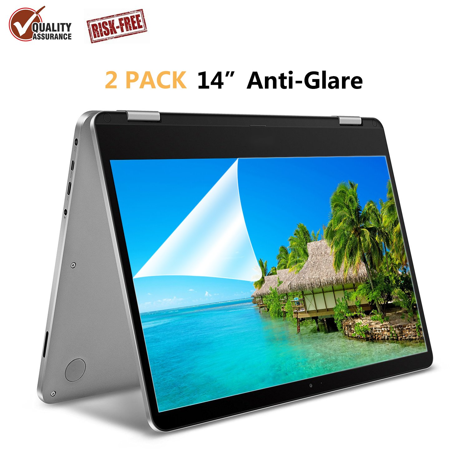 """[2 Pack] 14"""" Anti Glare Screen Protector Compatible for ASUS VivoBook 14 Inch/HP Stream 14 Inch/Acer Chromebook 14 Inch/Lenovo Flex 14 Inch/HP ChromeBook 14 Inch"""