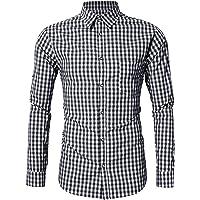 GloryStar - Camisa de Manga Corta para Hombre, Estilo Casual, Ajustada, con botón, para Oktoberfest y Lederhosen