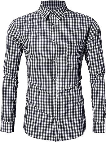 KOJOOIN Hombre Camisa Manga Larga Slim Fit XS - 4XL Camisa de Traje típico bávaro/tirolés para Hombre Oktoberfest