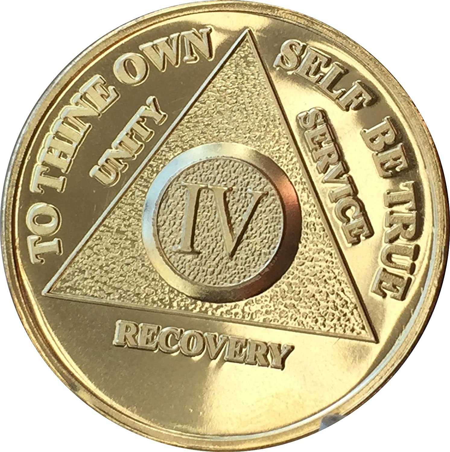 1 Year 24k Gold Plated AA Medallion Anniversary Chip