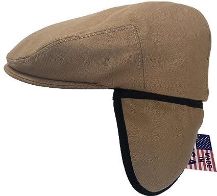 Headchange Made in USA Herringbone or Solid Ear Flap Ivy Cap Winter Hat 100%  Wool 8fd291b49c94
