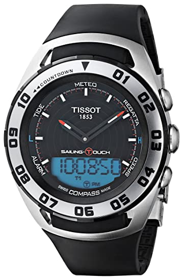 Tissot SAILING-TOU T0564202705101 - Reloj de caballero de cuarzo, correa de goma color