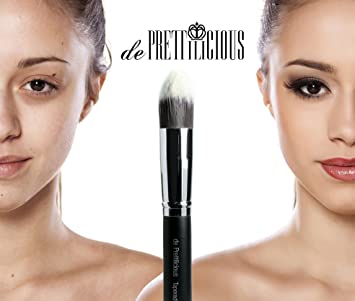 TAPERED KABUKI BRUSH. FREE BEAUTY E-BOOK. ON SALE! LIQUID FOUNDATION BRUSH -...