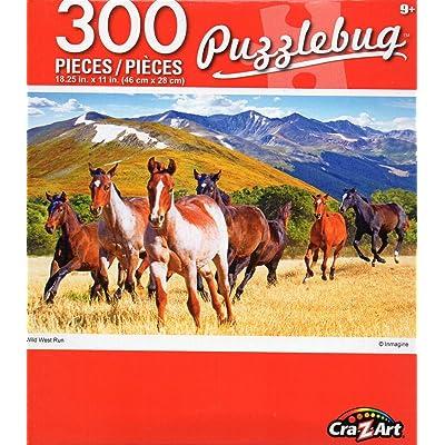 Cra-Z-Art Puzzlebug Wild West Run - 300 Piece Jigsaw Puzzle: Toys & Games