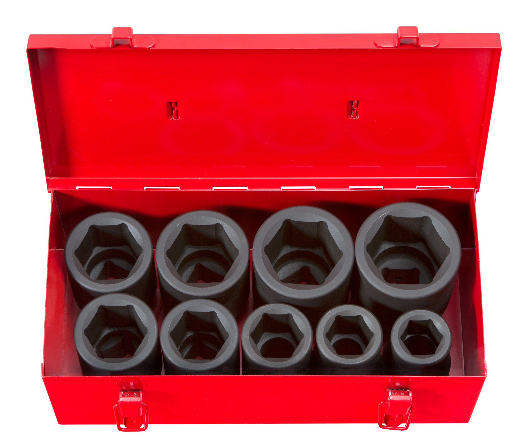 TEKTON 1-Inch Drive Deep Impact Socket Set, Inch, Cr-Mo, 6-Point, 1-Inch - 2-Inch, 9-Sockets | 4892 by TEKTON