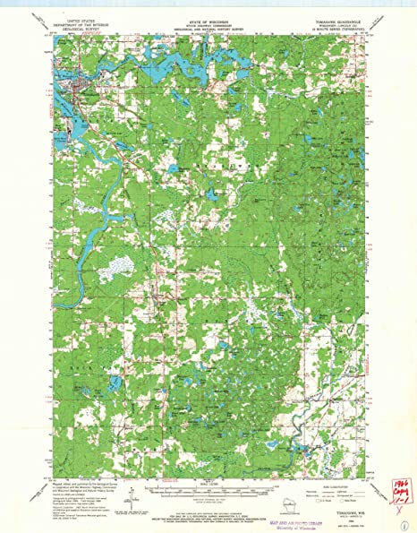 Amazon Com Yellowmaps Tomahawk Wi Topo Map 1 62500 Scale 15 X 15