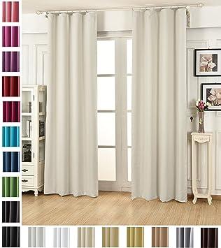 WOLTU #489, Vorhang Gardinen Blickdicht mit kräuselband für schiene,  Leichter & weicher Verdunklungsvorhang für Wohnzimmer Schlafzimmer Tür,  135x175 ...