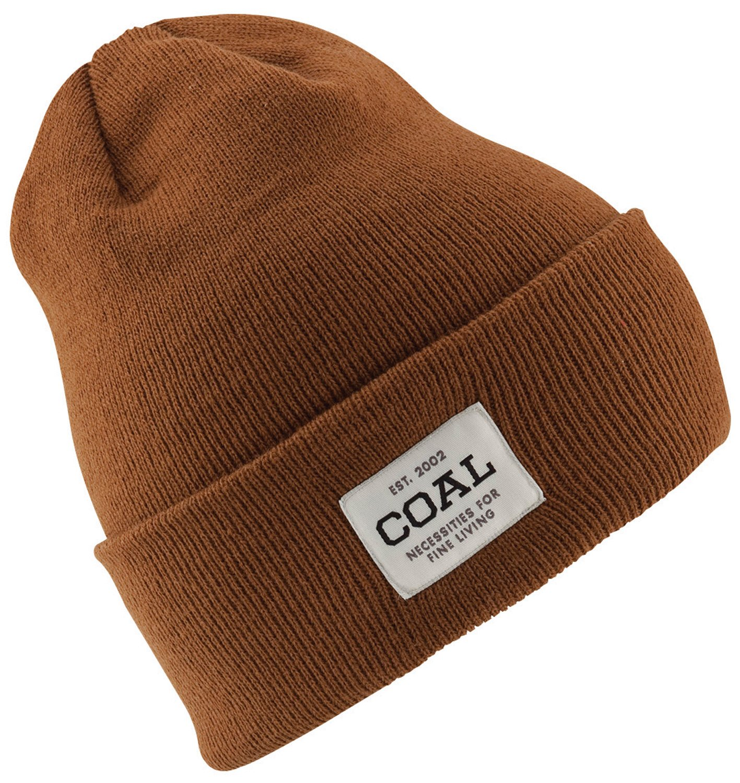 Coal Men's the Uniform Fine Knit Workwear Cuffed Beanie Hat, Light Brown, One Size