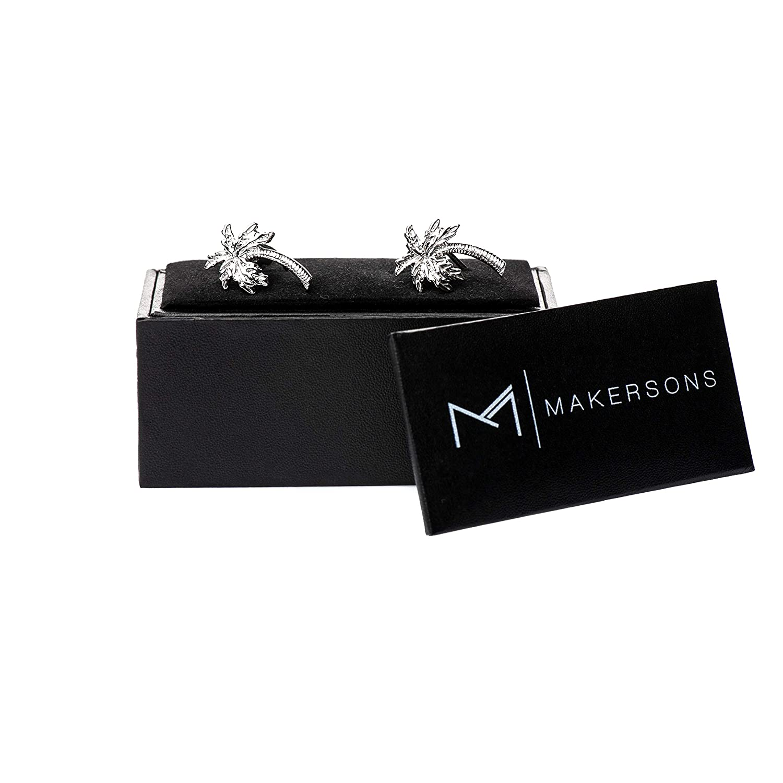 MAKERSONS Stylisch Premium Manschettenkn/öpfe mit Geschenk Box Hochzeit Arbeit