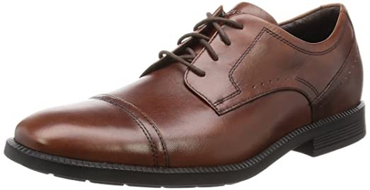 RockportDressports Modern Captoe - Zapatos Planos con Cordones Hombre, Color Marrón, Talla 44.5