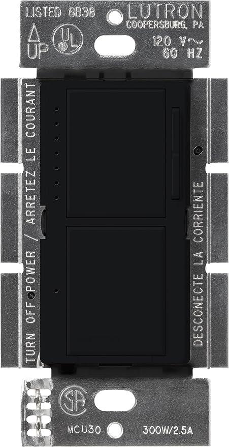 Lutron MA-L3S25-BL Maestro 300 Watt Single-Pole Dual Dimmer and ...