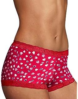 MAIDENFORM Coral Punch Lace Trim Boyshort Size 9//2XL