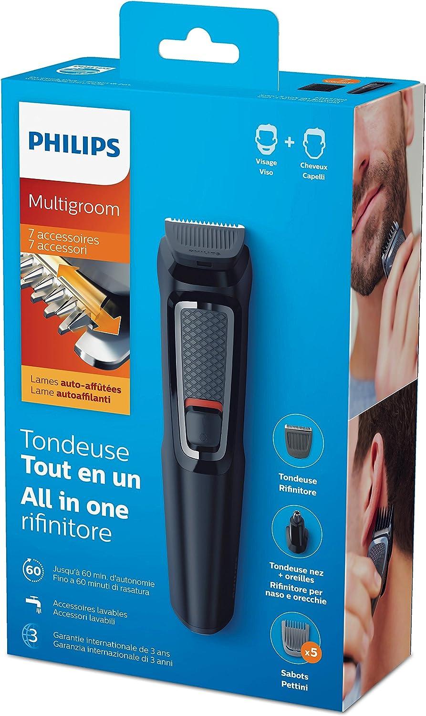 Philips Tagliacapelli e Barba serie 3000 7 in 1  Multigroom ** MG3720//15