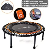 MXL MaXimus Life FIT BOUNCE PRO NOW WITH FREE 3 MONTH MEMBERSHIP - Half Folding, Bungee Sprung Mini Trampoline, Includes Storage Bag, Bounce Counter, DVD