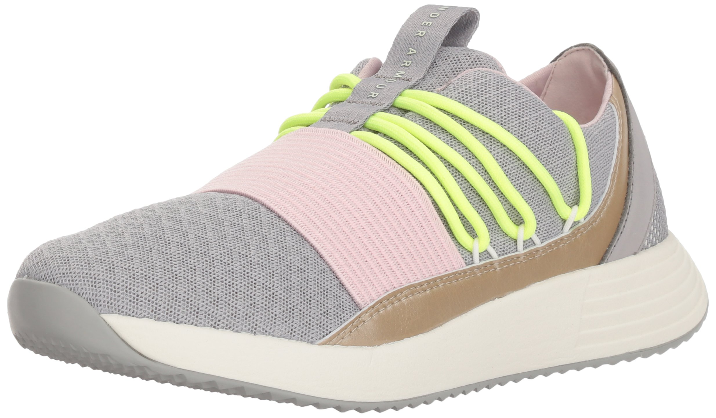 Under Armour Women's Breathe Lace Sneaker, Tin (102)/Ivory, 10