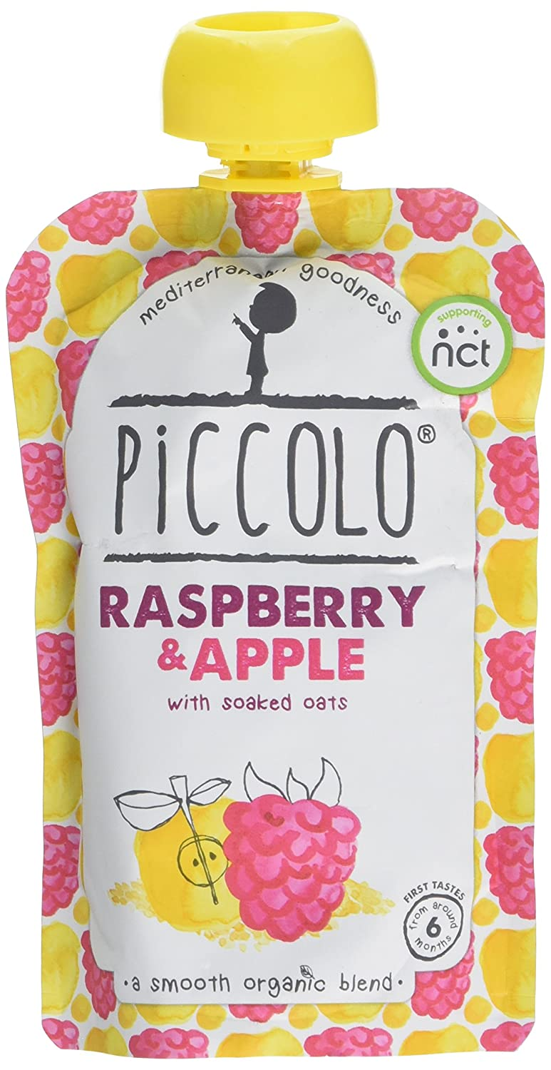 Piccolo Stage 1 Raspberry and Apple Puree, 100 g, Pack of 5 PIC1004