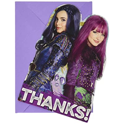amscan Postcard Thank You Cards, Disney Descendants 2 Collection, Party Accessory, Multicolor: Toys & Games