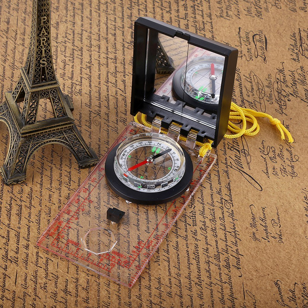 la Navigation de Plaisance lautomobile Alomejor Boussole multifonctionnelle Map Ruler Compass Boussole en Plastique ABS avec Carte/Mesureur de Distance Id/éal pour la randonn/ée Le Camping
