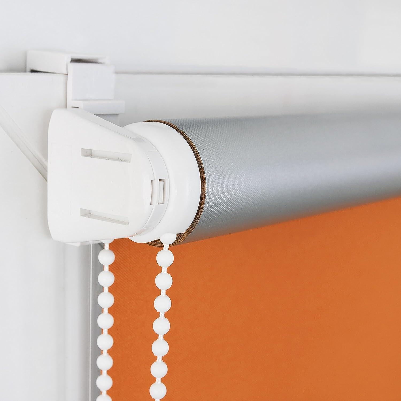 ROLLMAXXX Thermo Verdunkelungsrollo Klemmfix ohne Bohren Bohren Bohren (130 x 150 cm, Grau) B01LWIO873 Seitenzug- & Springrollos 004c9a